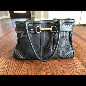 Large black Coach purse